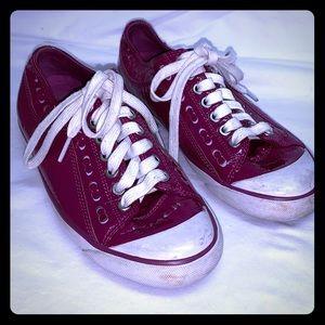 Coach Briar patent sneaker patent raspberry 7.5